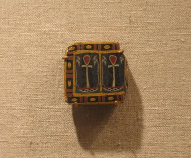 Fragment of Cane, 100 B.C.E. - 100 C.E. Fused mosaic glass, 1 1/8 x 1 1/8 in. (2.8 x 2.8 cm). Brooklyn Museum, Charles Edwin Wilbour Fund, 58.93.5. Creative Commons-BY