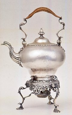 Tea Kettle on Stand. Silver Brooklyn Museum, Gift of Donald S. and Pearl D. Morrison, 59.138. Creative Commons-BY