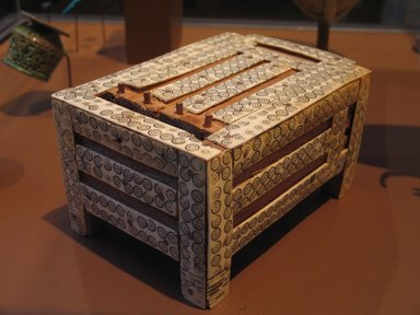 Jewelry (?) Box with Separate Sliding Cover, ca. 1539-1478 B.C.E. Wood, ivory, 3 3/4 x 4 7/8 x 6 5/8 in. (9.5 x 12.4 x 16.8 cm). Brooklyn Museum, Charles Edwin Wilbour Fund, 60.1.1a-b. Creative Commons-BY