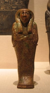 Egyptian. Shawabti of Chief Lector Priest Padiimenipet, ca. 670-650 B.C.E. Steatite, glazed, Height: 6 7/16 in. (16.3 cm). Brooklyn Museum, Charles Edwin Wilbour Fund, 60.10. Creative Commons-BY
