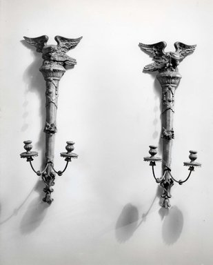 Pair of Wall Sconces. Carved and gilt deal, and gesso Brooklyn Museum, Gift of Mrs. Cheever Porter, 60.136.3a-b. Creative Commons-BY