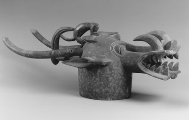 Senufo. Mask (Wabele or Wo), early 20th century. Wood, pigment, 35 x 9 x 14 in.  (88.9 x 22.9 x 35.6 cm). Brooklyn Museum, Charles Stewart Smith Memorial Fund, 60.144. Creative Commons-BY