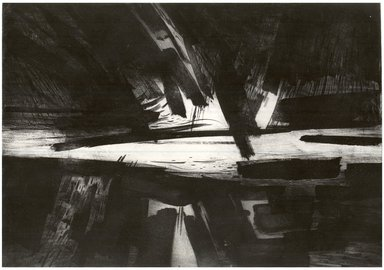 Gabor Peterdi (American, born Hungary, 1915-2001). The Storm, 1958. Etching, engraving, lift ground on zinc on paper, image: 21 7/8 x 31 7/8 in. (55.6 x 81 cm). Brooklyn Museum, Dick S. Ramsay Fund, 60.17.2. © Estate of Gabor Peterdi