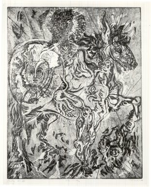 Gabor Peterdi (American, born Hungary, 1915-2001). Alexander, 1950. Etching, aquatint, engraving, soft ground and hard ground on paper, image: 28 x 21 5/8 in. (71.1 x 54.9 cm). Brooklyn Museum, Dick S. Ramsay Fund, 60.17.3. © Estate of Gabor Peterdi