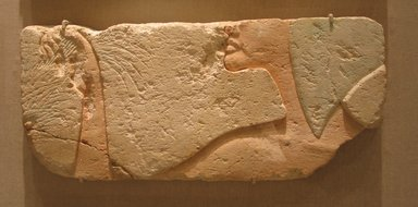 Relief, ca. 1352-1334 B.C.E. Limestone, painted, 9 3/16 x 20 1/2 in. (23.4 x 52 cm). Brooklyn Museum, Charles Edwin Wilbour Fund, 60.197.2. Creative Commons-BY