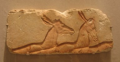 Relief of Antelopes, ca. 1352-1336 B.C.E. Limestone, painted, 20 11/16 x 8 7/8 in. (52.5 x 22.5 cm). Brooklyn Museum, Charles Edwin Wilbour Fund, 60.197.5. Creative Commons-BY