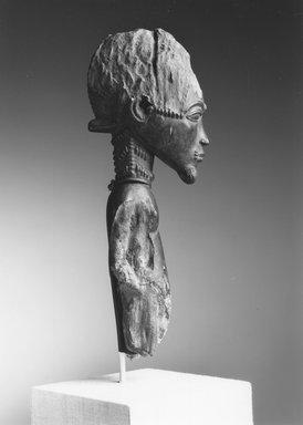 Baule. Male Figure (Waka Sran), early 20th century. Wood, 11 x 3 9/16 x 4 1/4 in. (27.9 x 9 x 10.8 cm). Brooklyn Museum, Frank L. Babbott Fund, 61.3. Creative Commons-BY