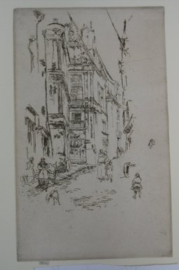 James Abbott McNeill Whistler (American, 1834-1903). Chancellerie, Loches. Etching on paper, Sheet (trimmed to plate): 10 5/8 x 6 1/2 in. (27 x 16.5 cm). Brooklyn Museum, Gift of Dr. and Mrs. Frank L. Babbott, Jr., 62.110.3
