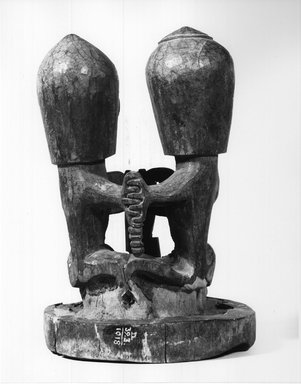 Ancestral Figure (Korwar), early 20th century. Wood, 8 3/4 x 6 x 5 1/4 in.  (22.2 x 15.2 x 13.3 cm). Brooklyn Museum, Frank L. Babbott Fund, 62.18.2. Creative Commons-BY