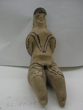 Karaja. Seated Female Figurine, circa mid 20th century. Ceramic, pigment, 4 7/8 x 2 1/8 in. (12.4 x 5.4 cm). Brooklyn Museum, Gift of Ingeborg de Beausacq, 62.180.15. Creative Commons-BY