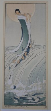 Bertha Lum (American, 1879-1954). Song of the Brook, 1916. Woodcut in color on Japan paper, Image: 12 x 5 1/16 in. (30.5 x 12.9 cm). Brooklyn Museum, Gift of the Achenbach Foundation for Graphic Arts, 63.108.3. © Estate of Bertha Lum