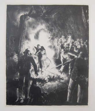 George Wesley Bellows (American, 1882-1925). The Law is Too Slow, 1923. Lithograph on wove paper, Image: 17 11/16 x 14 9/16 in. (45 x 37 cm). Brooklyn Museum, Gift of Chester Dale, 63.155.17. © Bellows Trust