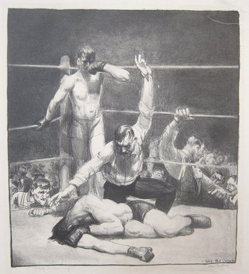 George Wesley Bellows (American, 1882-1925). Punchinello in the House of Death (Irish Wake), 1923. Lithograph on wove paper, Image: 6 1/8 x 7 1/4 in. (15.6 x 18.4 cm). Brooklyn Museum, Gift of Chester Dale, 63.155.4. © Bellows Trust