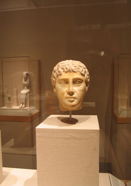 Head of Youth, 2nd century B.C.E. (possibly). Marble, Height: 6 1/8 in. (15.5 cm). Brooklyn Museum, Charles Edwin Wilbour Fund, 63.184. Creative Commons-BY