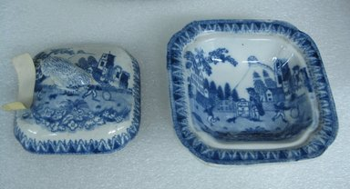 Vegetable Dish and Cover miniature. Earthenware, 3 7/16 x 3 7/16 in. (8.8 x 8.8 cm). Brooklyn Museum, Gift of Mrs. William C. Esty, 63.186.27a-b. Creative Commons-BY
