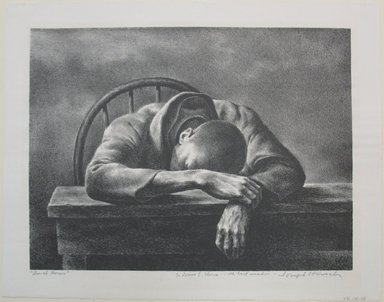 Joseph Hirsch (American, 1910-1981). Lunch Hour, 1942. Lithograph, Sheet: 10 15/16 x 14 in. (27.8 x 35.6 cm). Brooklyn Museum, Gift of The Louis E. Stern Foundation, Inc., 64.101.188. © Estate of Joseph Hirsch