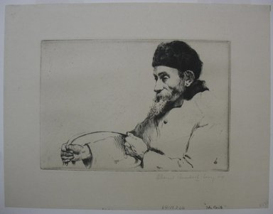 William Auerbach-Levy (American, 1889-1964). The Exile, 1911. Etching, Sheet: 8 3/4 x 11 3/16 in. (22.2 x 28.4 cm). Brooklyn Museum, Gift of The Louis E. Stern Foundation, Inc., 64.101.266