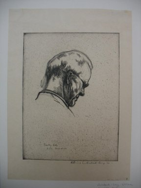 William Auerbach-Levy (American, 1889-1964). Timothy Cole, 1921. Etching, Sheet: 16 3/16 x 11 11/16 in. (41.1 x 29.7 cm). Brooklyn Museum, Gift of The Louis E. Stern Foundation, Inc., 64.101.271