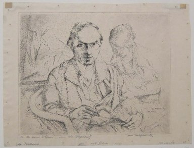 William Meyerowitz (American, 1898-1981). Self Portrait, n.d. Etching on paper, sheet: 9 1/4 x 12 1/2 in. (23.5 x 31.8 cm). Brooklyn Museum, Gift of The Louis E. Stern Foundation, Inc., 64.101.279. © Estate of William Meyerowitz