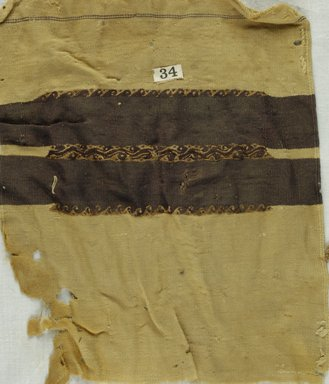 Coptic. Part of Tunic, 5th-7th century C.E. Wool, 9 1/2 x 11 3/4 in. (24.1 x 29.8 cm). Brooklyn Museum, Gift of Adelaide Goan, 64.114.238