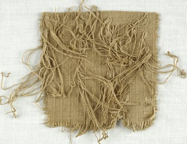 Coptic. Fragment with Fringe, 5th-7th century C.E. Flax, 4 x 5 in. (10.2 x 12.7 cm). Brooklyn Museum, Gift of Adelaide Goan, 64.114.239