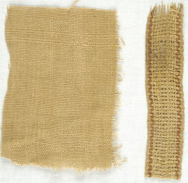 Coptic. Plainweave Fabric, 5th-7th century C.E. Linen, 1 x 4 1/2 in. (2.5 x 11.4 cm). Brooklyn Museum, Gift of Adelaide Goan, 64.114.241