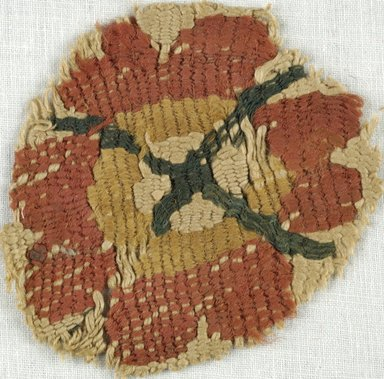 Coptic. Tapestry Roundel, 5th-7th century C.E. Flax, wool, 2 1/2 in. Diam. (6.4 cm). Brooklyn Museum, Gift of Adelaide Goan, 64.114.246