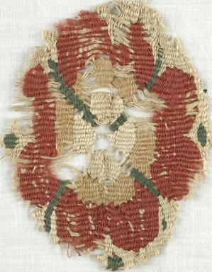 Coptic. Tapestry Roundel, 5th-7th century C.E. Flax, Wool, 3 x 4 in. (7.6 x 10.2 cm). Brooklyn Museum, Gift of Adelaide Goan, 64.114.247