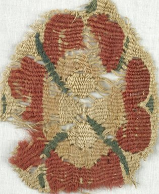 Coptic. Tapestry Roundel, 5th-7th century C.E. Flax, Wool, 3 1/4 x 4 1/4 in. (8.3 x 10.8 cm). Brooklyn Museum, Gift of Adelaide Goan, 64.114.248