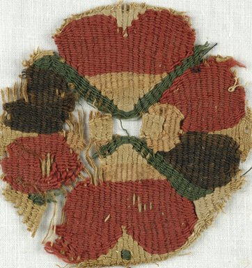 Coptic. Tapestry Roundel, 5th-7th century C.E. Flax, wool, 3 x 3 1/4 in. (7.6 x 8.3 cm). Brooklyn Museum, Gift of Adelaide Goan, 64.114.249