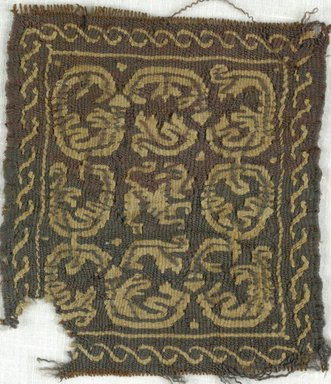 Coptic. Square Tapestry, 5th-7th century C.E. Wool, 3 1/2 x 4 in. (8.9 x 10.2 cm). Brooklyn Museum, Gift of Adelaide Goan, 64.114.252