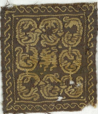 Coptic. Square Tapestry, 5th-7th century C.E. Wool, 3 3/4 x 4 1/2 in. (9.5 x 11.4 cm). Brooklyn Museum, Gift of Adelaide Goan, 64.114.253