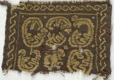 Coptic. Square Tapestry, 5th-7th century C.E. Wool, 3 1/4 x 4 1/4 in. (8.3 x 10.8 cm). Brooklyn Museum, Gift of Adelaide Goan, 64.114.254