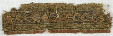 Coptic. Tapestry Strip with Plant Forms, 5th-7th century C.E. Wool, 1 3/8 x 5 1/2 in. (3.5 x 14 cm). Brooklyn Museum, Gift of Adelaide Goan, 64.114.261