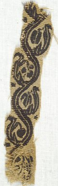 Coptic. Tapestry, 5th-7th century C.E. Flax, wool, 2 x 6 3/4 in. (5.1 x 17.1 cm). Brooklyn Museum, Gift of Adelaide Goan, 64.114.273