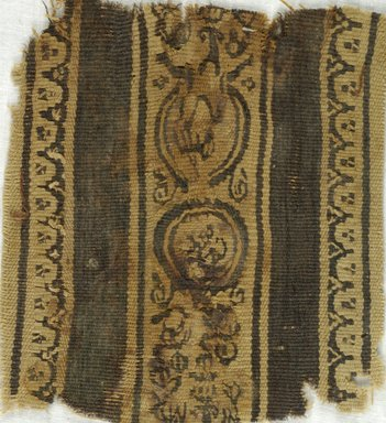 Coptic. Tapestry, 5th-7th century C.E. Linen, wool, 4 1/4 x 4 3/4 in. (10.8 x 12.1 cm). Brooklyn Museum, Gift of Adelaide Goan, 64.114.276