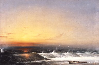 James Hamilton (American, 1819-1878). What are the Wild Waves Saying?, 1868. Oil on canvas, 20 1/8 x 29 5/8 in. (51.1 x 75.2 cm). Brooklyn Museum, Gift of Robert E. Blum, 64.143