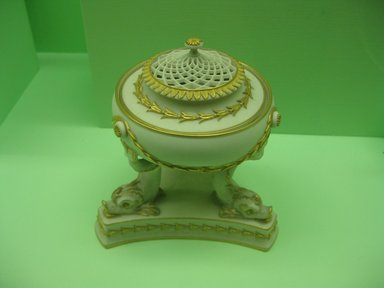 Josiah Wedgwood & Sons Ltd. (founded 1759). Pastille Burner. Porcelain Brooklyn Museum, Gift of the Estate of Emily Winthrop Miles, 64.82.34. Creative Commons-BY