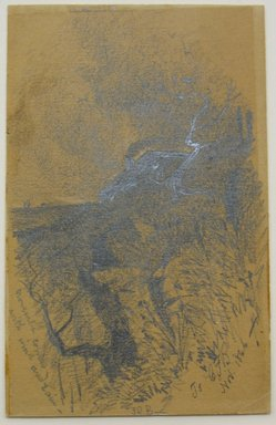 Unknown. November Comes with Wind and Rain, 1866. Graphite on paper, sheet: 4 7/8 x 3 3/16 in. (12.4 x 8.1 cm). Brooklyn Museum, Gift of Frederick Baekeland, 66.235