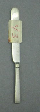 Child's Dinner Knife, ca. 1880. White metal, 3 1/8 in. (7.9 cm). Brooklyn Museum, Gift of Amelia Beard Hollenback, 66.25.43. Creative Commons-BY