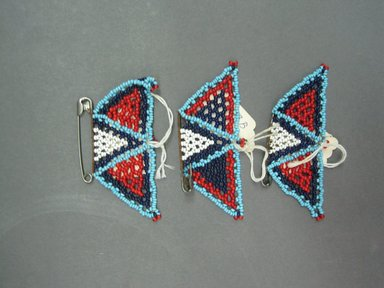 Possibly Zulu. Three Brooches, early to mid 20th century. Glass beads, safety pin, 3 1/2 x 1 3/4in. (8.9 x 4.4cm). Brooklyn Museum, Gift of Mr. and Mrs. Jerome Blum, 66.86.13a-c. Creative Commons-BY