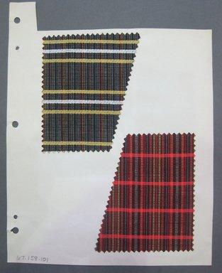 Fab-Tex Inc.. Fabric Swatch, 1963-1966. Silk, sheet: 8 1/4 x 10 1/2 in. (21 x 26.7 cm). Brooklyn Museum, Gift of Fab-Tex Inc., 67.158.101