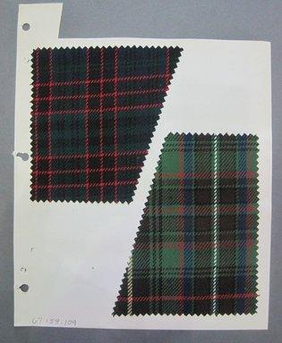 Fab-Tex Inc.. Fabric Swatch, 1963-1966. Wool, sheet: 5 x 5 in. (12.7 x 12.7 cm). Brooklyn Museum, Gift of Fab-Tex Inc., 67.158.109