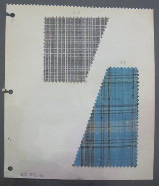 Fab-Tex Inc.. Fabric Swatch, 1963-1966. Synthetic?, sheet: 8 1/4 x 9 1/2 in. (21 x 24.1 cm). Brooklyn Museum, Gift of Fab-Tex Inc., 67.158.121