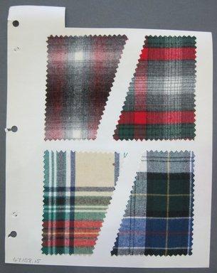 Fab-Tex Inc.. Fabric Swatch, 1963-1966. Cotton, sheet: 8 1/4 x 10 1/2 in. (21 x 26.7 cm). Brooklyn Museum, Gift of Fab-Tex Inc., 67.158.15