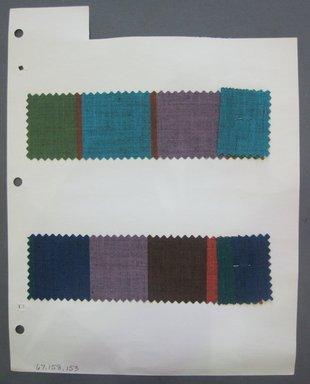 Fab-Tex Inc.. Fabric Swatch, 1963-1966. Cotton, sheet: 8 1/4 x 10 1/2 in. (21 x 26.7 cm). Brooklyn Museum, Gift of Fab-Tex Inc., 67.158.153