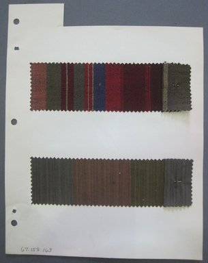 Fab-Tex Inc.. Fabric Swatch, 1963-1966. Synthetic and Cotton, sheet: 8 1/4 x 10 1/2 in. (21 x 26.7 cm). Brooklyn Museum, Gift of Fab-Tex Inc., 67.158.163