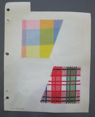 Fab-Tex Inc.. Fabric Swatch, 1963-1966. Cotton, sheet: 8 1/4 x 10 1/2 in. (21 x 26.7 cm). Brooklyn Museum, Gift of Fab-Tex Inc., 67.158.20