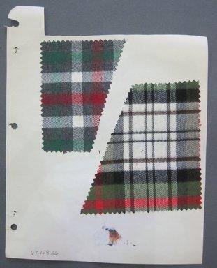 Fab-Tex Inc.. Fabric Swatch, 1963-1966. Cotton, sheet: 8 1/4 x 10 1/2 in. (21 x 26.7 cm). Brooklyn Museum, Gift of Fab-Tex Inc., 67.158.26