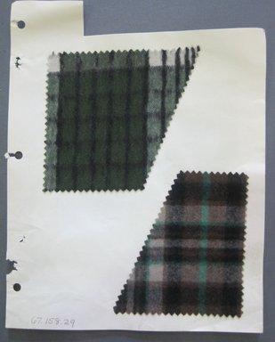 Fab-Tex Inc.. Fabric Swatch, 1963-1966. Cotton, sheet: 8 1/4 x 10 1/2 in. (21 x 26.7 cm). Brooklyn Museum, Gift of Fab-Tex Inc., 67.158.29
